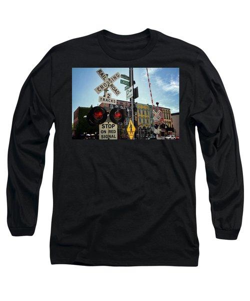 Historic Depot Town Ypsilanti Mi Long Sleeve T-Shirt