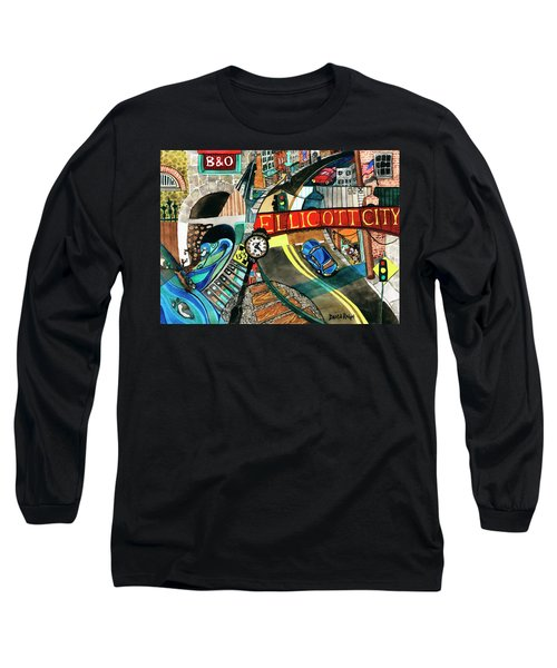 Historic Ellicott City Steam And Stone Long Sleeve T-Shirt