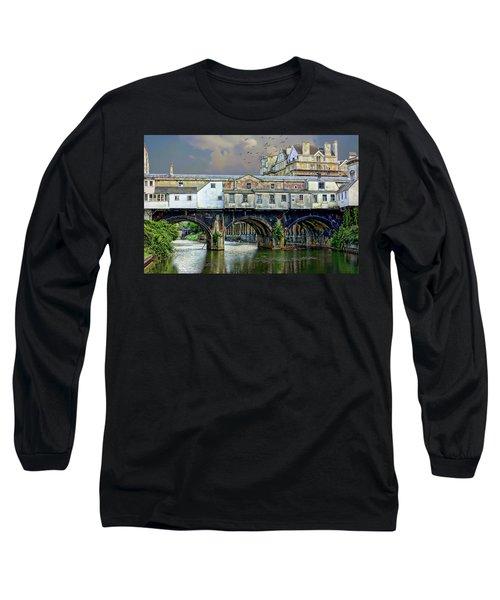 Historic Pulteney Bridge Long Sleeve T-Shirt