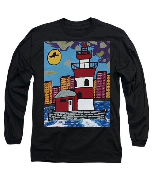 Historical Michigan Lighthouse Long Sleeve T-Shirt by Jonathon Hansen