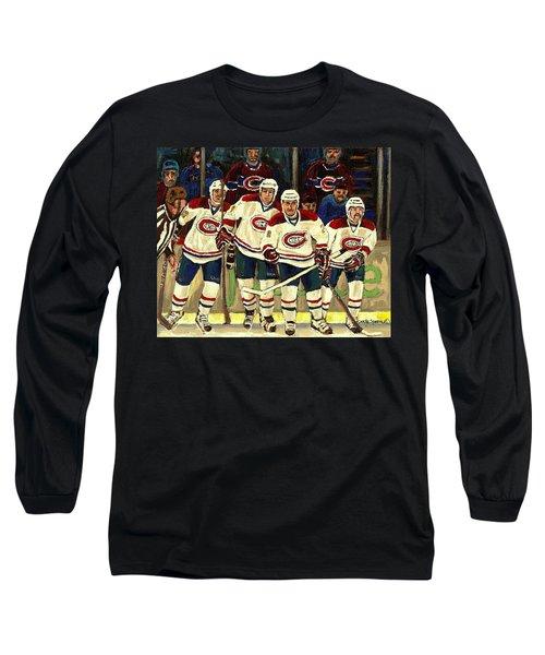 Hockey Art The Habs Fab Four Long Sleeve T-Shirt