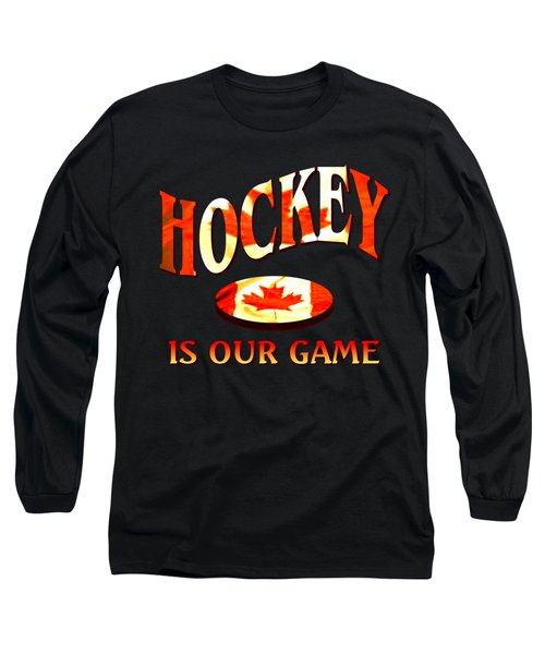 Canadian Hockey Design Long Sleeve T-Shirt