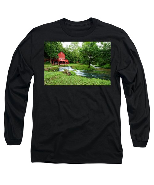Hodgson Water Mill And Spring Long Sleeve T-Shirt by Cricket Hackmann