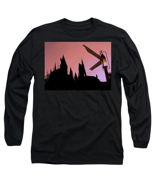 Long Sleeve T-Shirt featuring the photograph Hogwarts Castle ... by Juergen Weiss