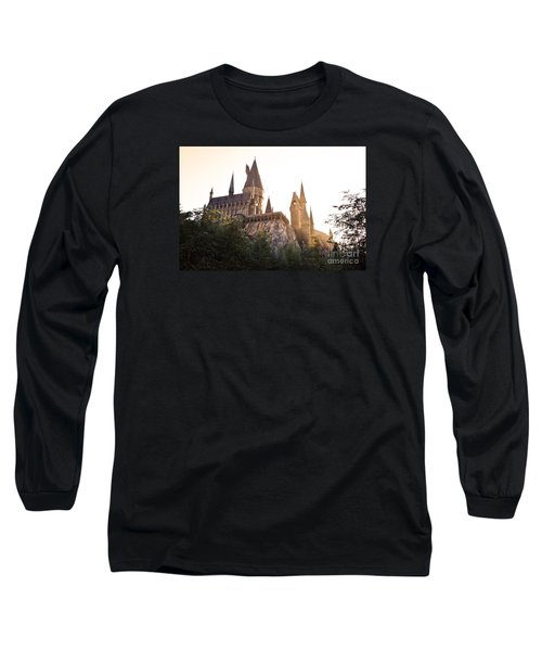 Long Sleeve T-Shirt featuring the photograph Hogwarts Dusk by Rebecca Parker