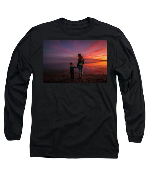 Hold My Hand Little Brother Long Sleeve T-Shirt by Ralph Vazquez