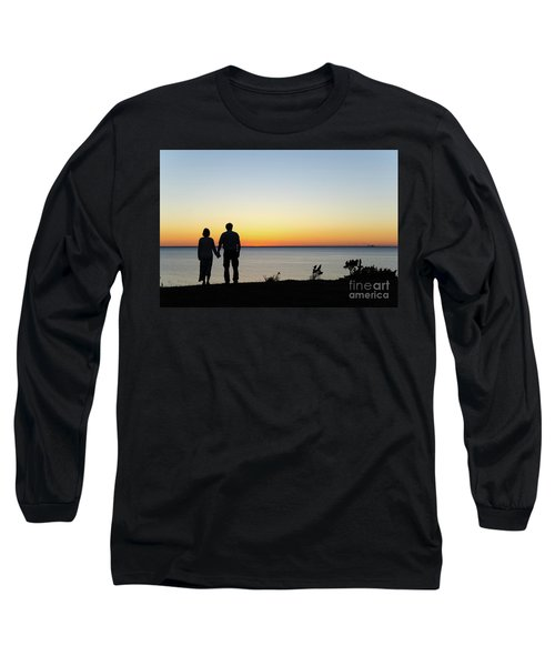 Long Sleeve T-Shirt featuring the photograph Holding Hands By  Sunset  by Kennerth and Birgitta Kullman