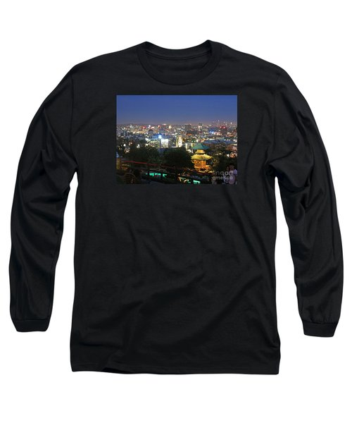 Hollywood Hills After Dark Long Sleeve T-Shirt by Cheryl Del Toro