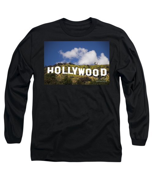 Long Sleeve T-Shirt featuring the photograph Hollywood Sign by Anthony Citro