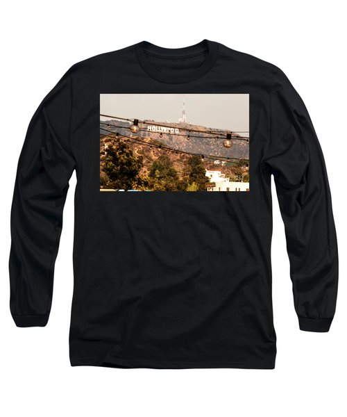 Long Sleeve T-Shirt featuring the photograph Hollywood Sign On The Hill 3 by Micah May