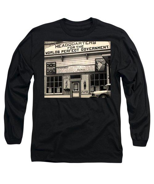 Holy City World Government Santa Clara County California 1938 Long Sleeve T-Shirt