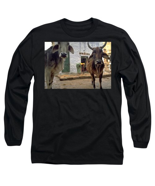 Long Sleeve T-Shirt featuring the photograph Holy Cow by Travel Pics