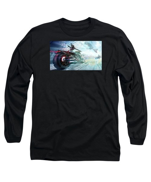Holy Crap That Is Fast. Long Sleeve T-Shirt by Lawrence Christopher
