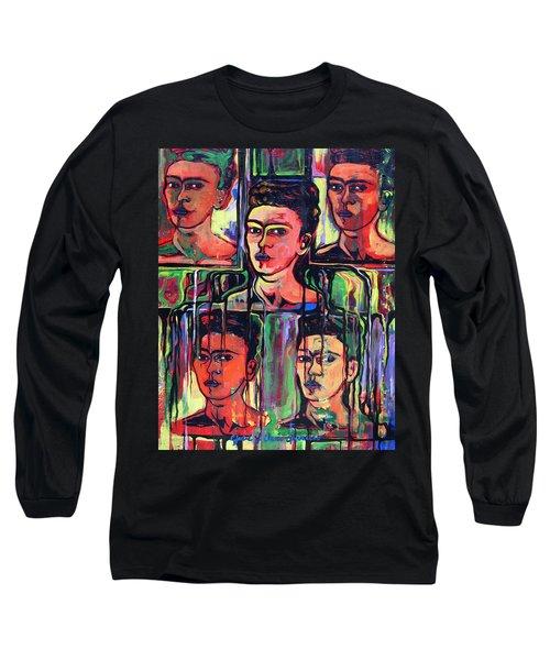 Homage To Frida Kahlo Long Sleeve T-Shirt