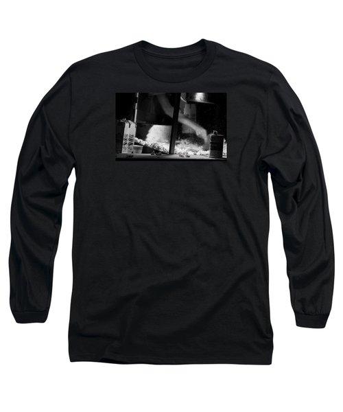 Homage To Movie Popcorn Long Sleeve T-Shirt by David Gilbert