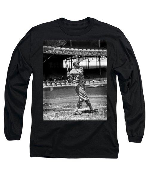 Home Run Babe Ruth Long Sleeve T-Shirt by Jon Neidert