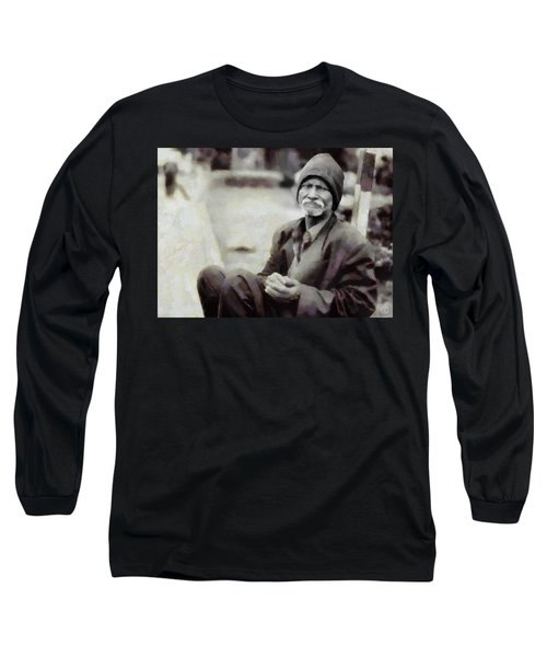 Long Sleeve T-Shirt featuring the digital art Homeless II by Gun Legler