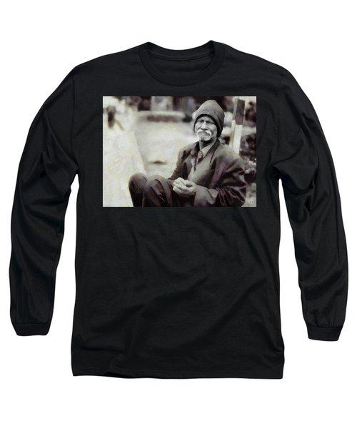 Homeless II Long Sleeve T-Shirt by Gun Legler
