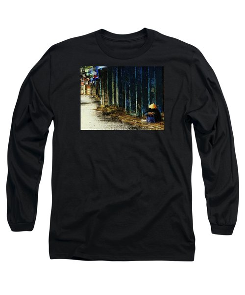 Long Sleeve T-Shirt featuring the digital art Homeless In Hanoi by Cameron Wood