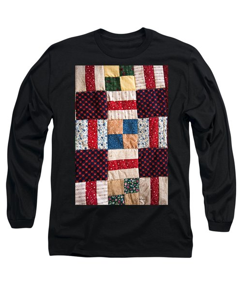 Homemade Quilt Long Sleeve T-Shirt by Christopher Holmes