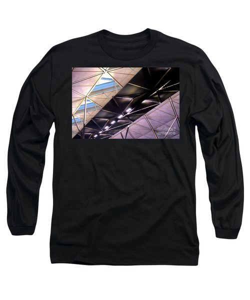 Long Sleeve T-Shirt featuring the photograph Hong Kong Airport by Randall Weidner