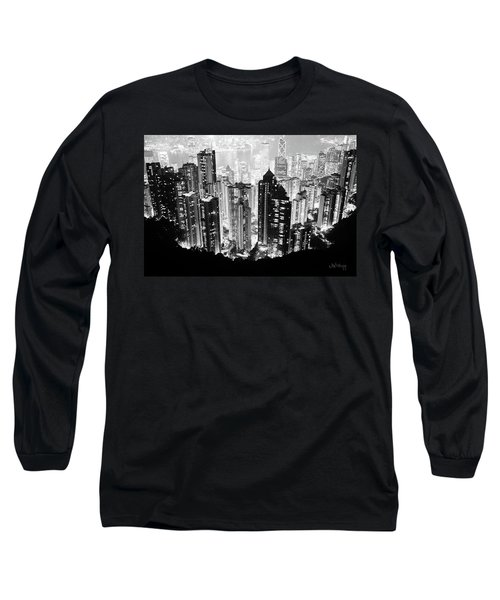 Hong Kong Nightscape Long Sleeve T-Shirt