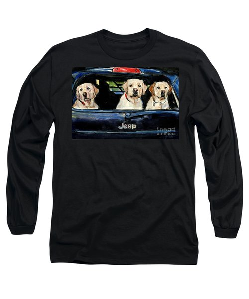 Long Sleeve T-Shirt featuring the painting Hooligans by Molly Poole