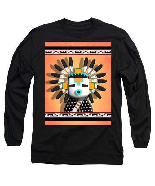 Hopi Kachina Mask Long Sleeve T-Shirt by John Wills