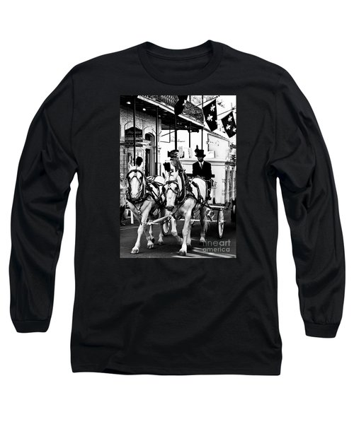 Horse Drawn Funeral Carriage Long Sleeve T-Shirt by Kathleen K Parker