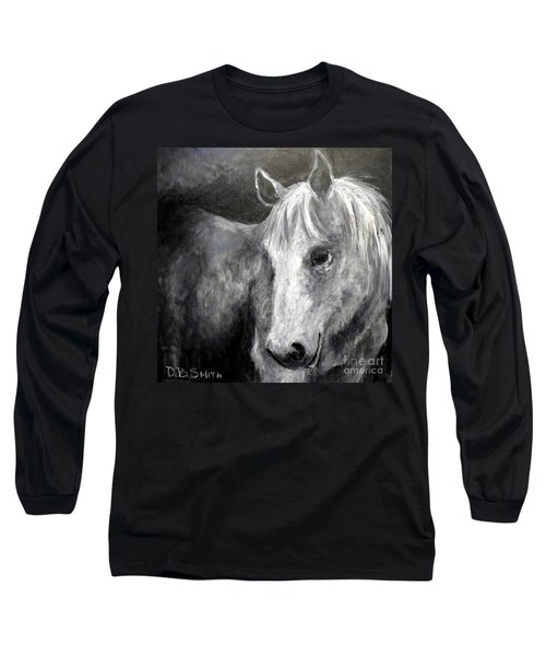 Horse With The Mona Lisa Smile Long Sleeve T-Shirt