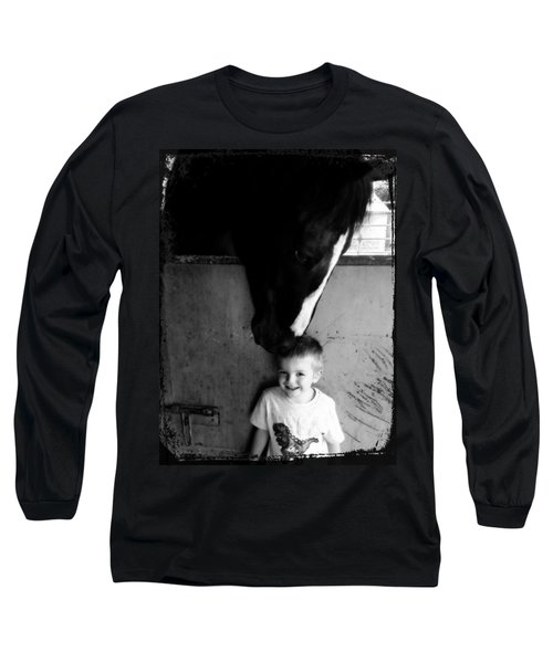 Long Sleeve T-Shirt featuring the photograph Horses Love by Amanda Eberly-Kudamik