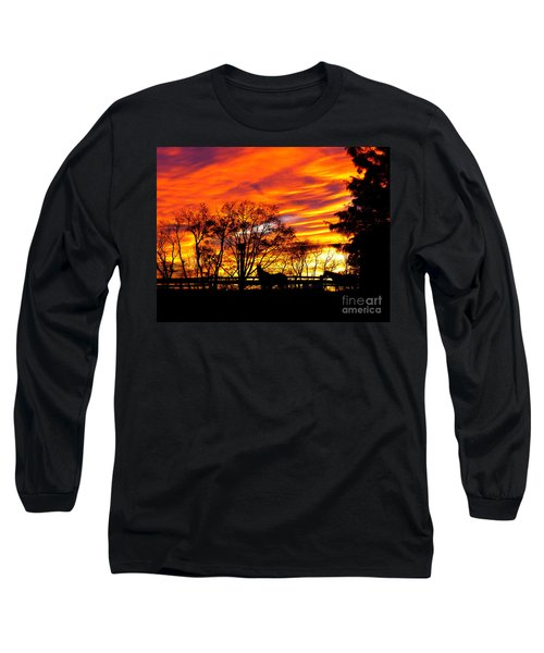 Horses Under A Painted Sky Long Sleeve T-Shirt