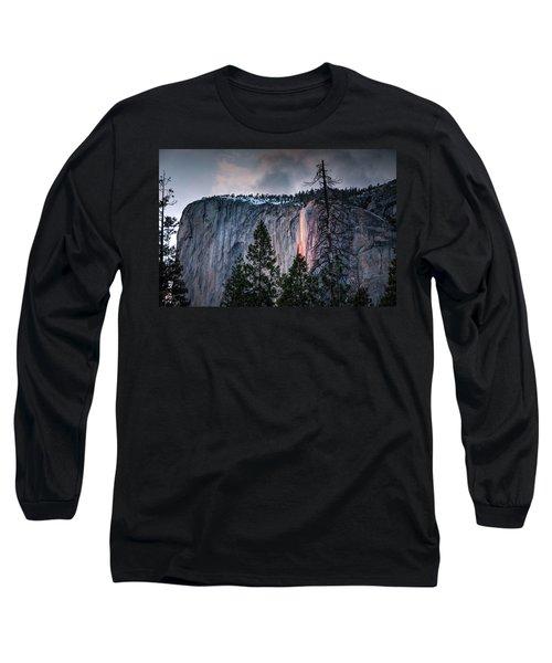 Horsetail Waterfall Glow 2017 Long Sleeve T-Shirt