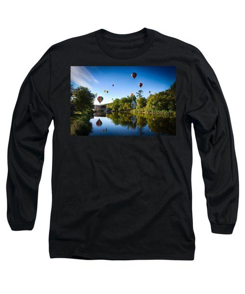 Hot Air Balloons In Queechee 2015 Long Sleeve T-Shirt by Jeff Folger