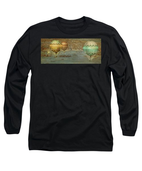 Long Sleeve T-Shirt featuring the digital art Hot Air Baloons Over Venus by Jeff Burgess