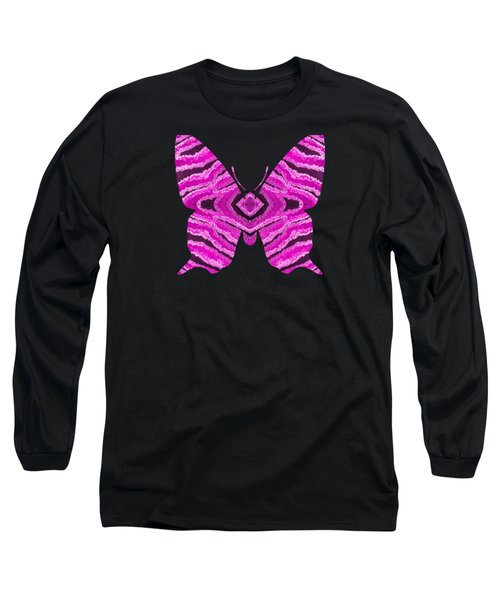 Hot Pink Butterfly Long Sleeve T-Shirt