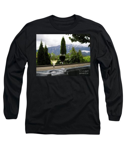 Hot Tub And Wine Long Sleeve T-Shirt