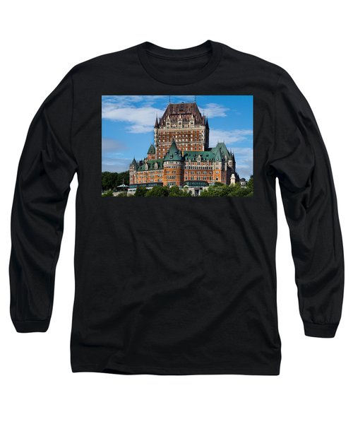 Chateau Frontenac In Quebec City Long Sleeve T-Shirt