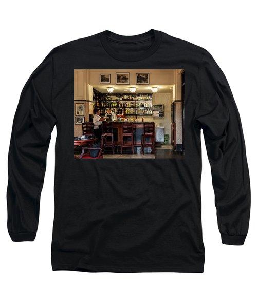 Long Sleeve T-Shirt featuring the photograph Hotel Presidente Bar Havana Cuba by Charles Harden