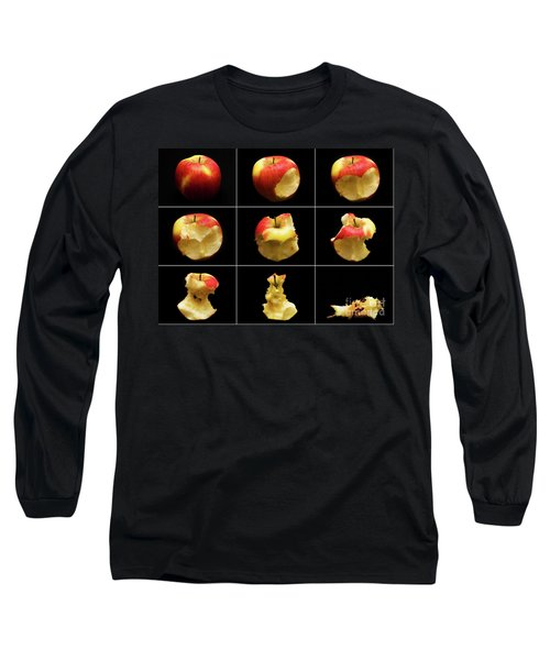 How To Eat An Apple In 9 Easy Steps Long Sleeve T-Shirt