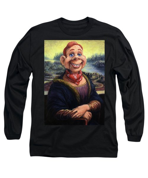 Long Sleeve T-Shirt featuring the painting Howdy Doovinci by James W Johnson