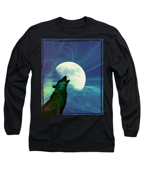 Howling Moon Long Sleeve T-Shirt by Amanda Eberly-Kudamik