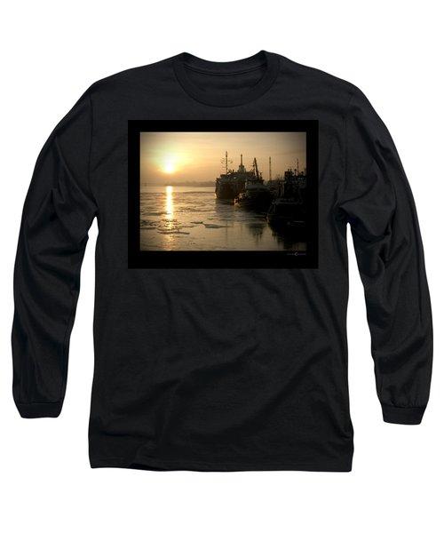 Huddled Boats Long Sleeve T-Shirt