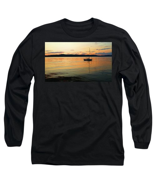Hudson River From Irvington In Westchester County Long Sleeve T-Shirt