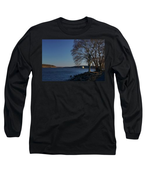 Hudson River With Lighthouse Long Sleeve T-Shirt