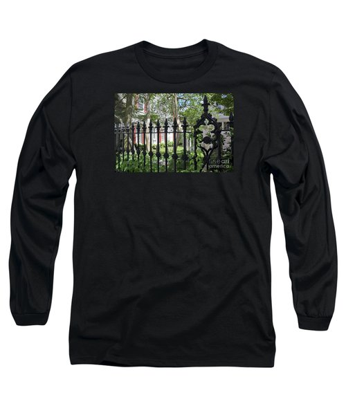 Long Sleeve T-Shirt featuring the photograph Huguenot Church Cemetery by Gina Savage