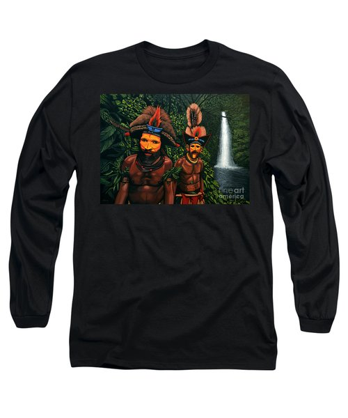 Huli Men In The Jungle Of Papua New Guinea Long Sleeve T-Shirt