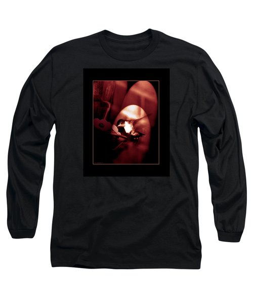 Long Sleeve T-Shirt featuring the digital art Humming Bird Feeding Tim. by Steve Godleski