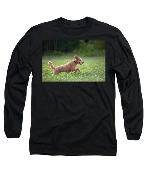 Hunting Dog Long Sleeve T-Shirt by Teemu Tretjakov