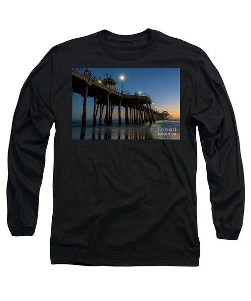 Huntington Beach Pier At Dusk Long Sleeve T-Shirt